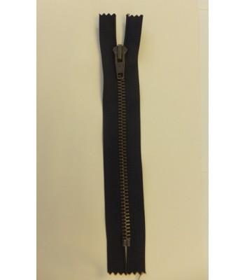 Zip 16cm Closed End Black with Metal Teeth