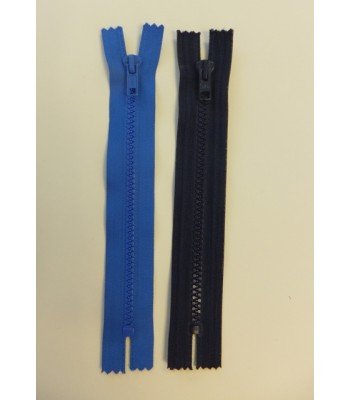 Zip 18cm closed end moulded plastic