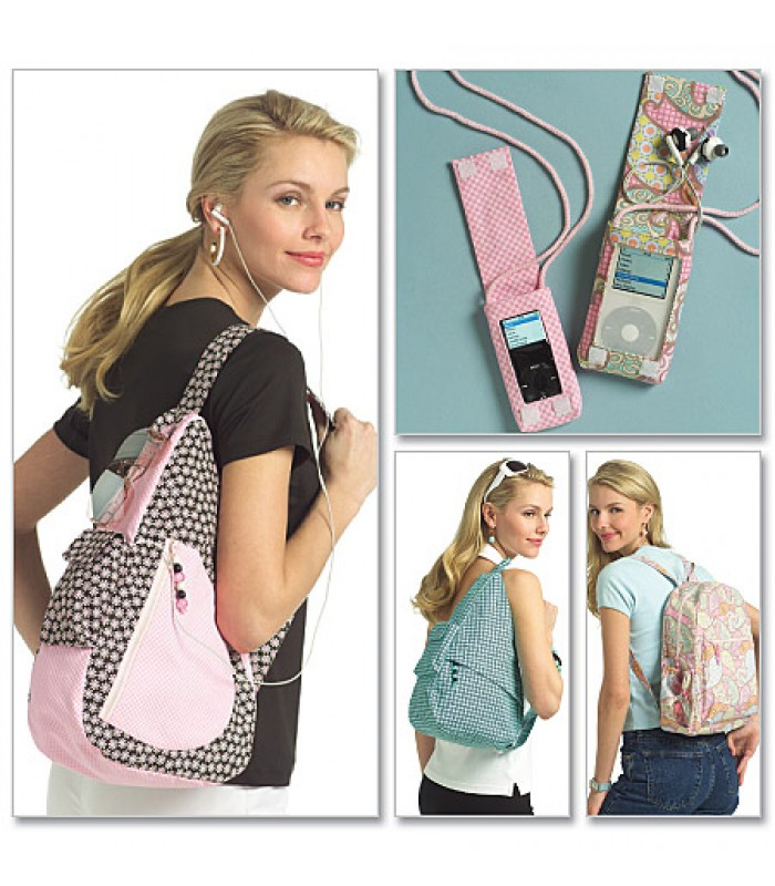 Pattern B5054 Backpack and MP3 player covers