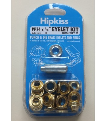 PO24 Brass Eyelet Kit 9.53mm