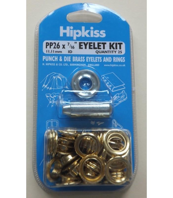 PO26 Brass Eyelet Set 11.11mm