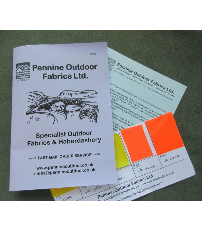 Pennine Outdoor Fabrics  Catalogue and 5 Samples