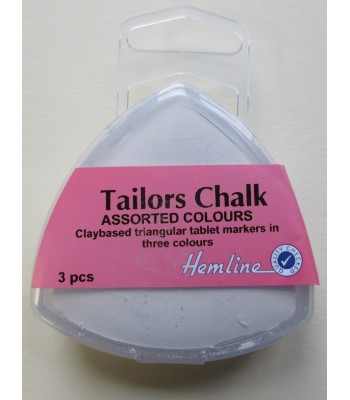 Tailor's Chalk Pack of 3 (White, Red, Blue)