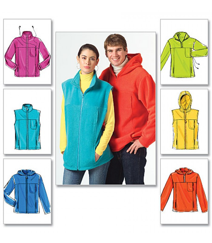 Pattern M5252 Unisex fleece tops and jackets