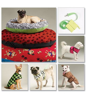 Pattern M6455 Dog Coats and Cushions