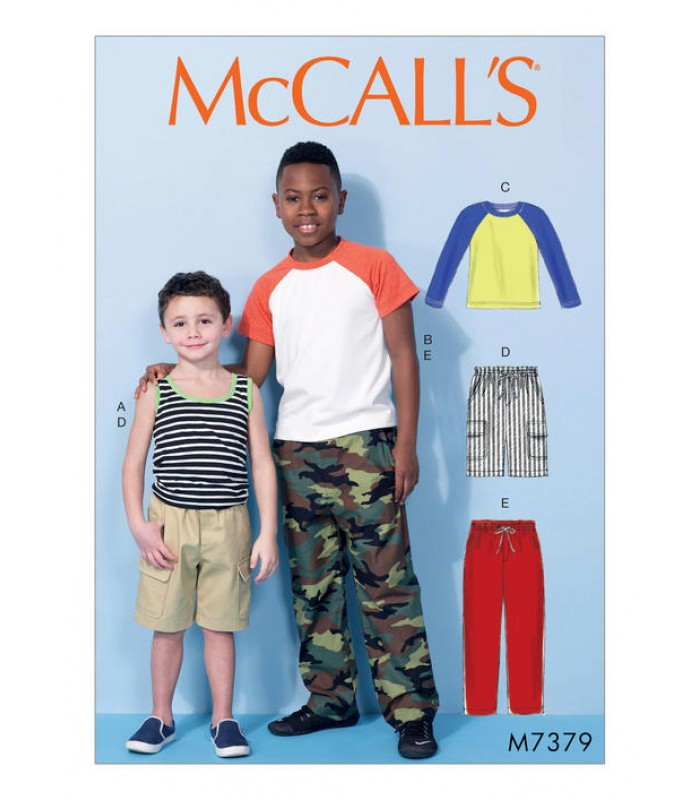 Pattern M7379 Child's Tops, shorts and pants