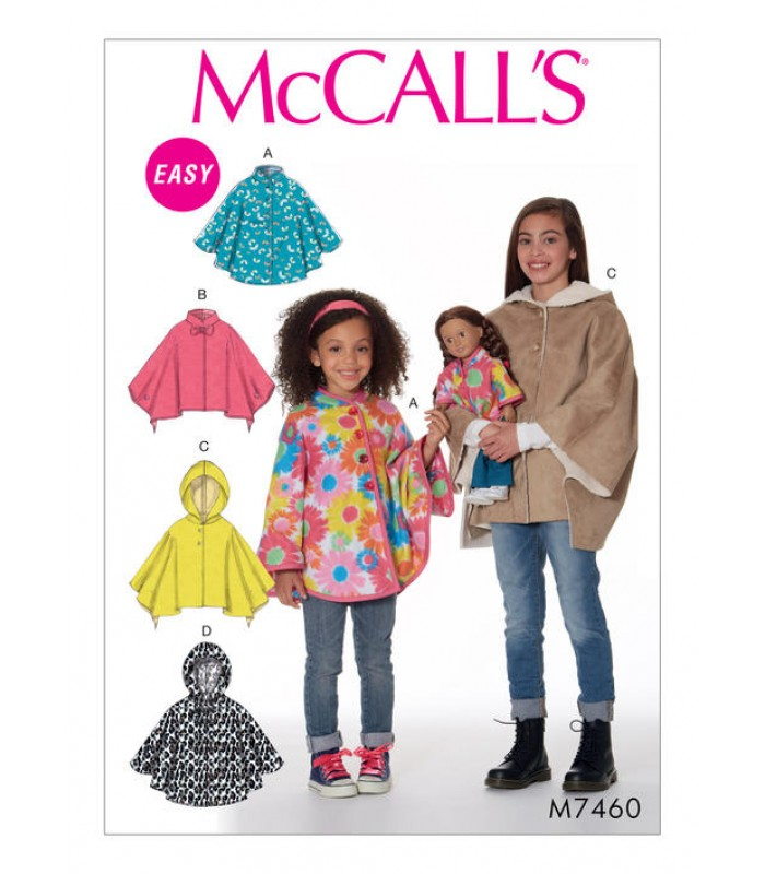 Pattern M7460 Child's and doll's poncho