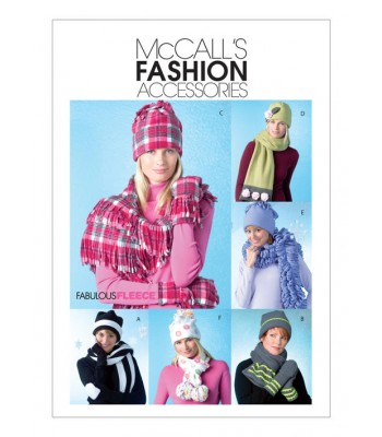Pattern M4681 hats, scarves and mittens
