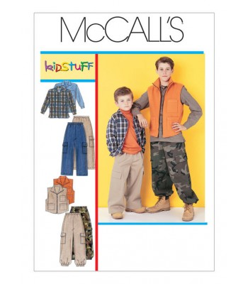 Pattern M6222 Child's shirt, vest and pants