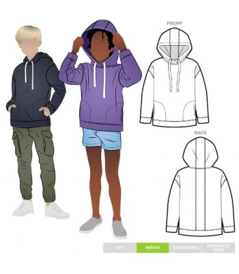 Pattern Style Arc Kid's Hoody