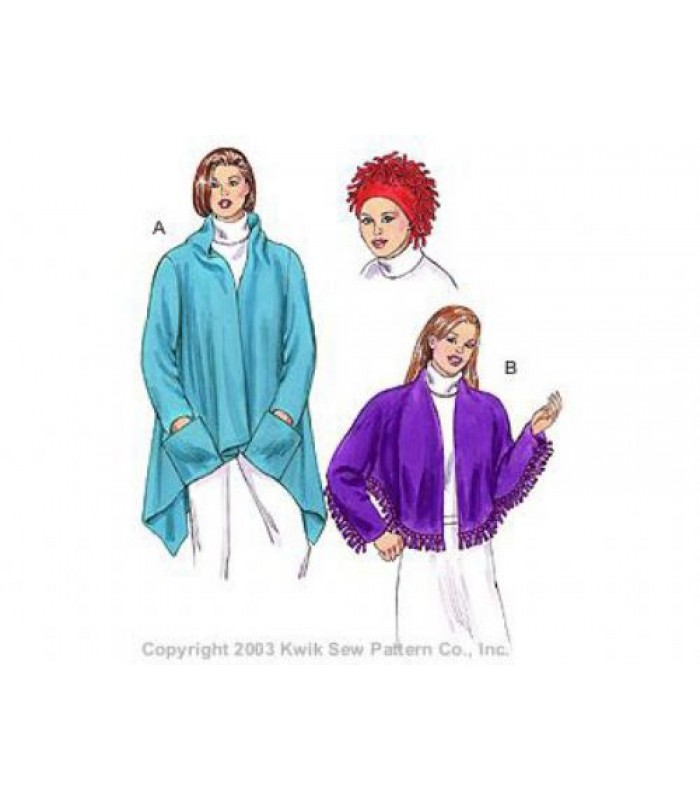 Pattern  K3173  No sew Jacket and Hat - Ladies