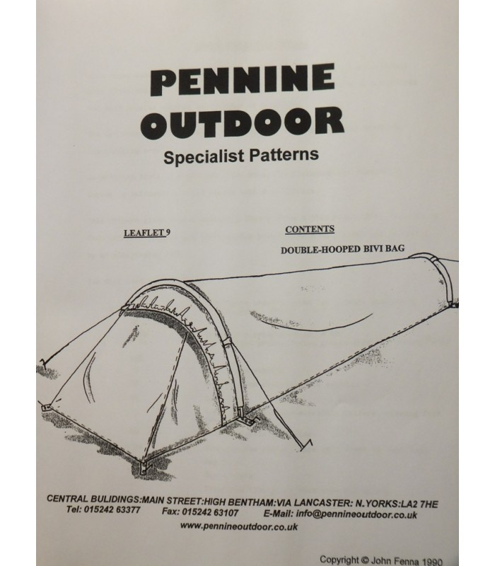 Leaflet 9 - Double Hooped Bivouac Bag