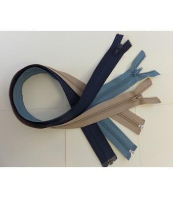 Zip 60cm Single Slider Open End 5mm Nylon Coil