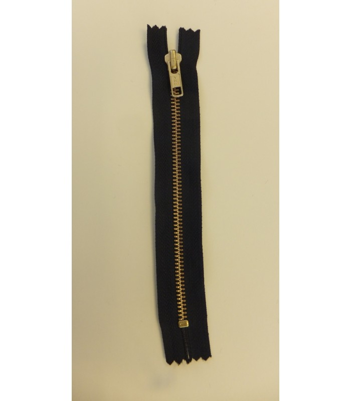 zip 18cm closed end black with metal teeth